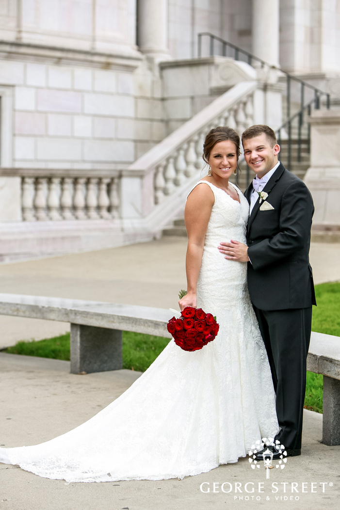 beautiful bride and groom at st paul athletic club in minneapolis wedding photos