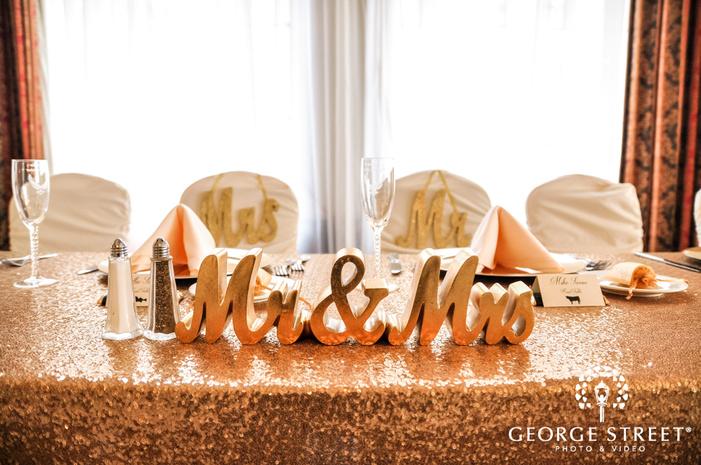 beautiful reception decor detail