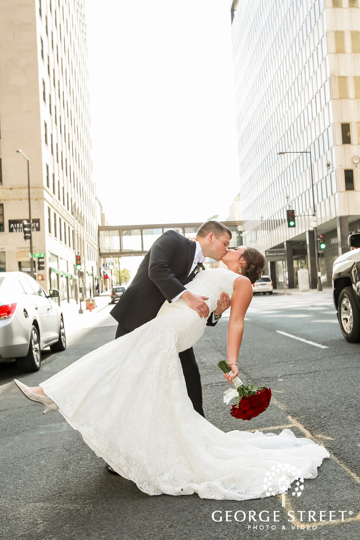 lovely bride and groom in minneapolis