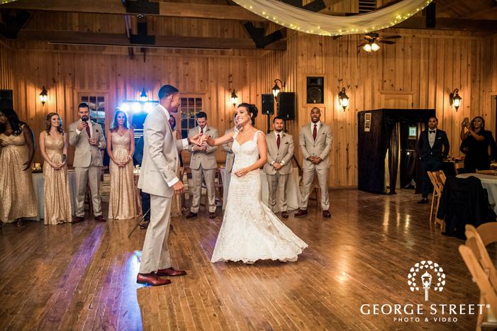 amazing couple first dance in reception gabriel springs austin wedding photos