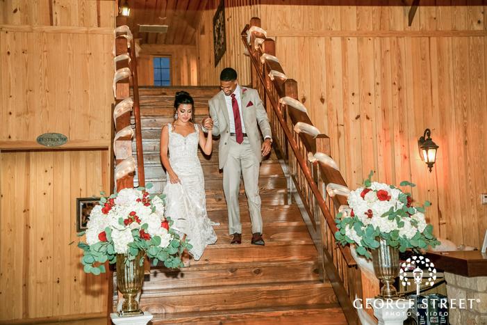 charming couple reception entrance gabriel springs austin wedding photos