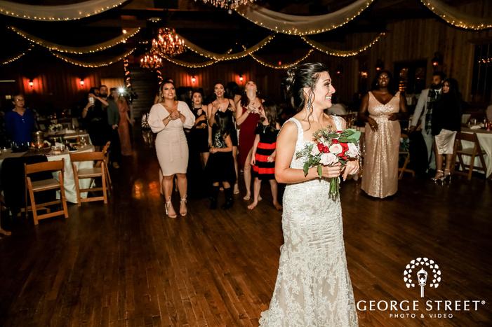 cute bride bouquet throw gabriel springs austin wedding photos