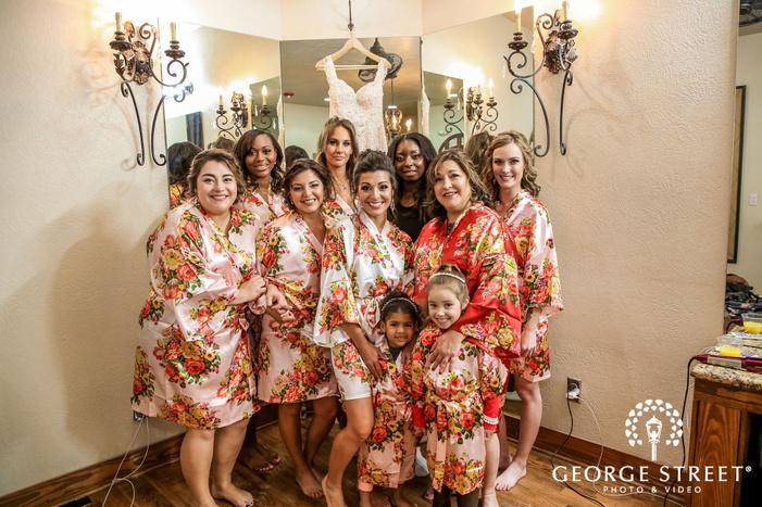 delighted bridesmaids getting ready gabriel springs austin wedding photos
