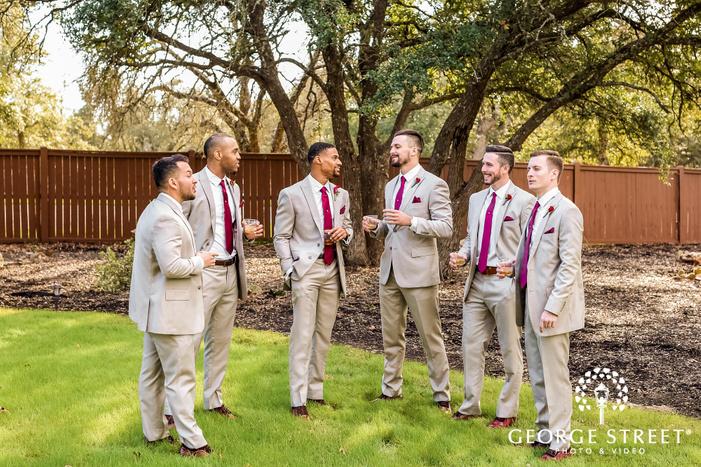gabriel springs austin cheery groomsmen in grassland wedding photos