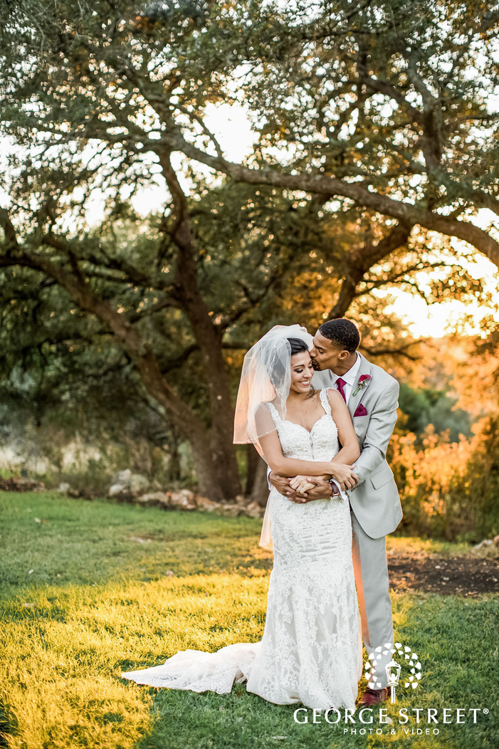gabriel springs austin romantic couple in grassland wedding photos
