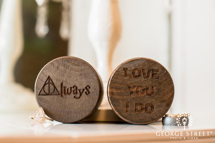beautiful couple wedding rings and boxes wedding photo