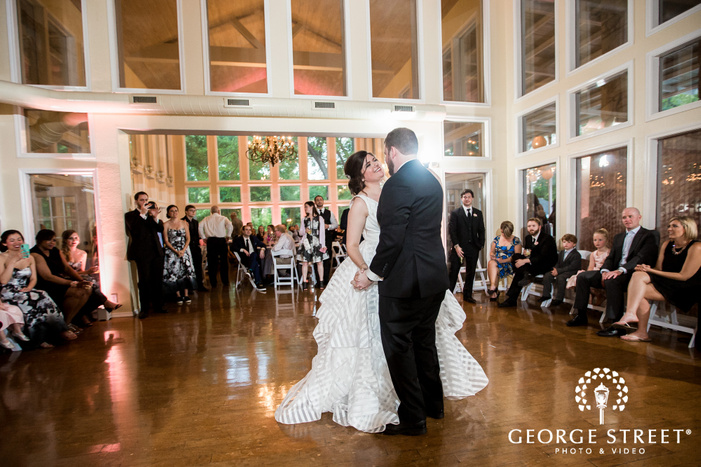 blissful bride and groom first dance at casa blanca on brushy creek in austin