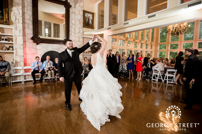 charming bride and groom first dance wedding photos