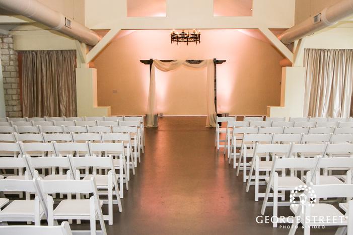 elegant wedding altar wedding photo