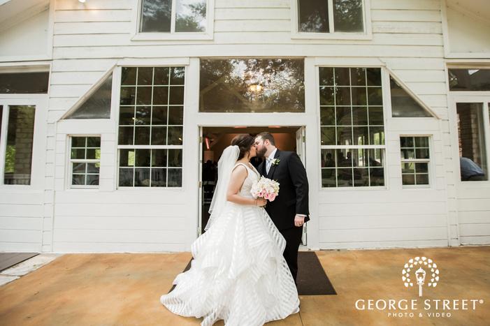 romantic bride and groom ceremony exit wedding photos