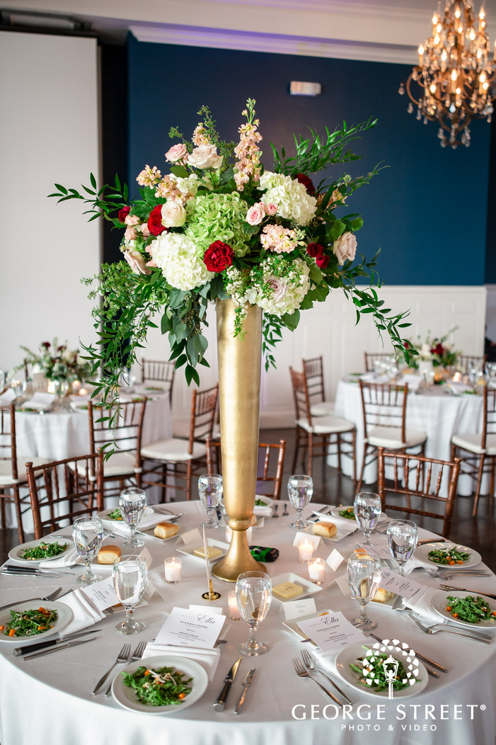 classy reception table setting details wedding photo