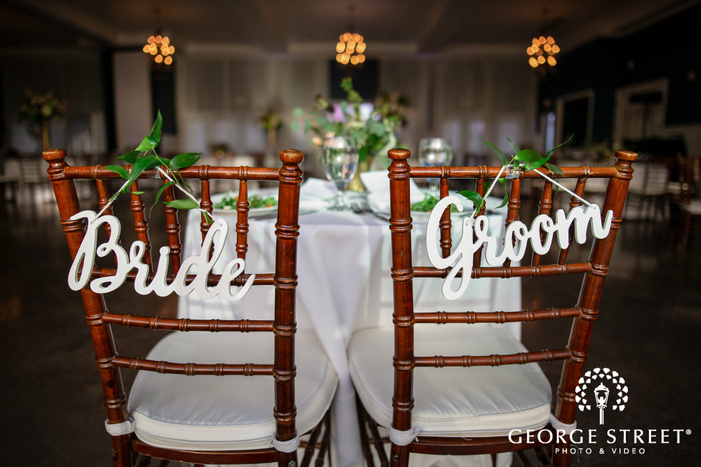 elegant couple reception table details wedding photo