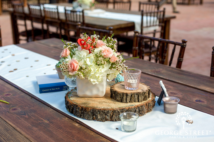 classic reception table setting details wedding photo