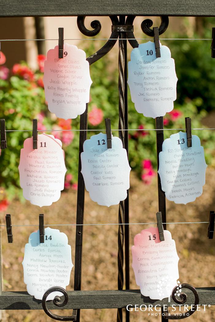 elegant reception guest seating cards wedding photo