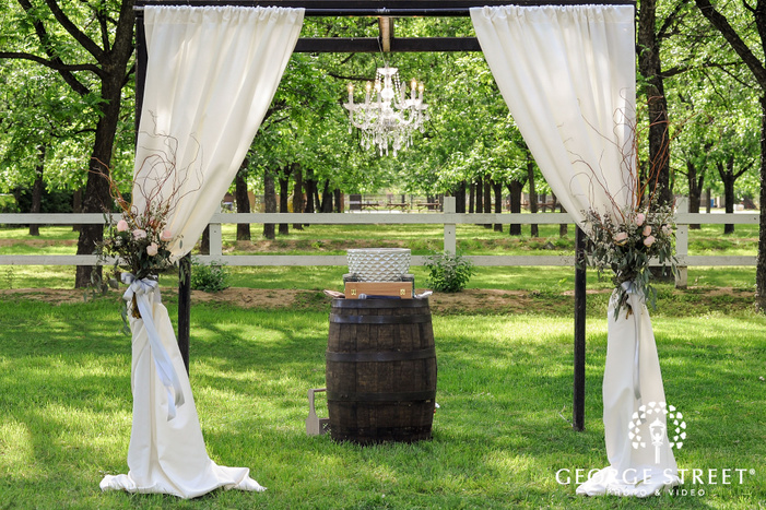 lovely wedding altar details wedding photo