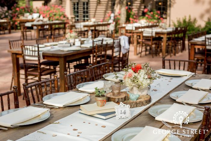majestic reception hall table setting details wedding photo