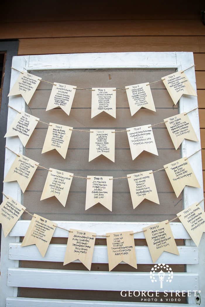 classic reception guests seating cards wedding photo