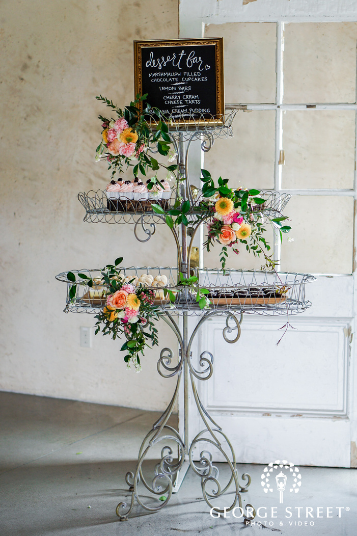 delightful reception dessert table wedding photo