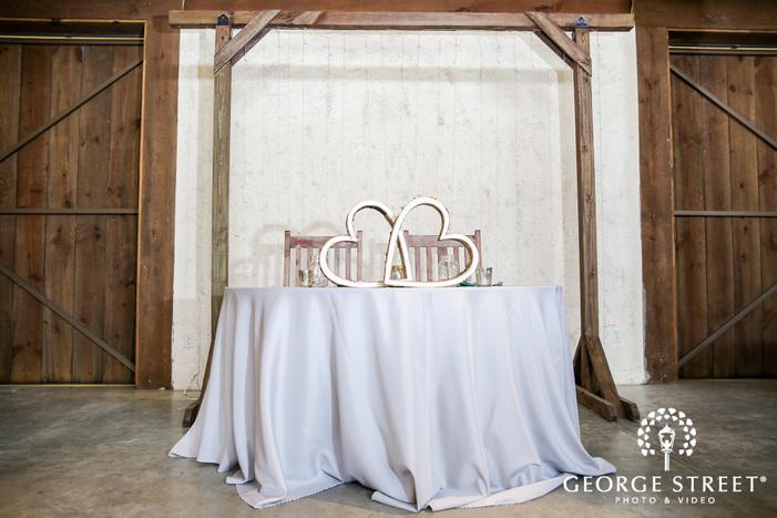lovely couple reception table wedding photo
