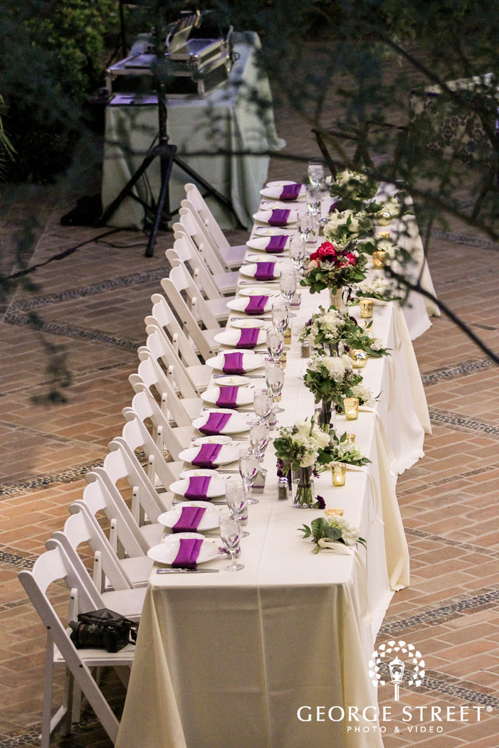 classy reception table detail wedding photo