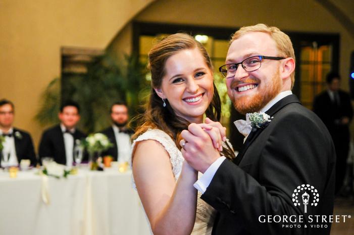 cute bride and groom reception dance