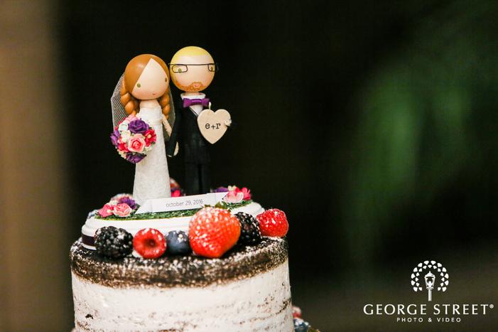 delightful wedding cake topper