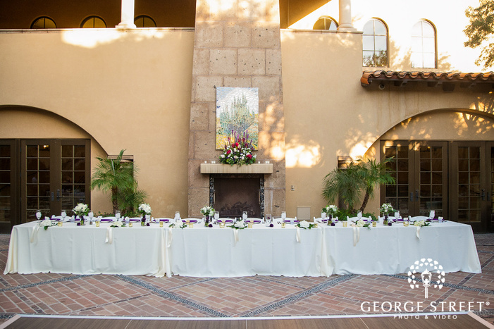 legant reception table setting at blackstone country club at vistancia in phoenix