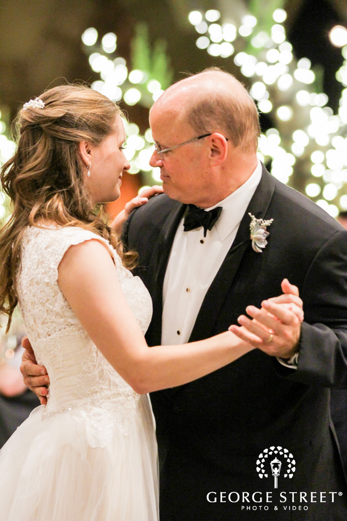 lovely bride and father reception dance