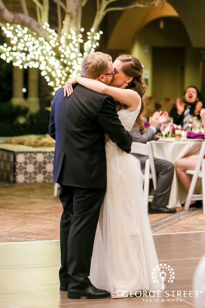 loving bride and groom reception dance at blackstone country club in vistancia in phoenix