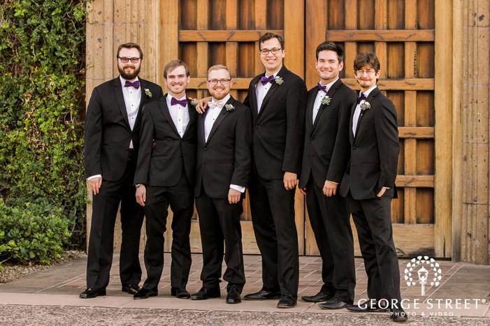 stunning groom and groomsmen