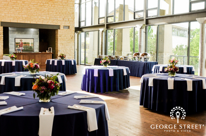 appealing reception hall setting at lady bird johnson wildflower center in austin