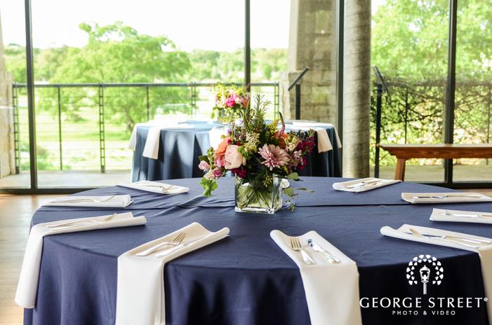 elegant reception table decor detail