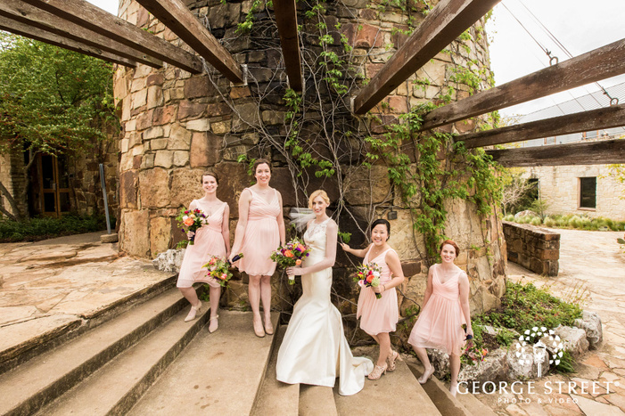 gorgeous bride and bridesmaids wedding photography
