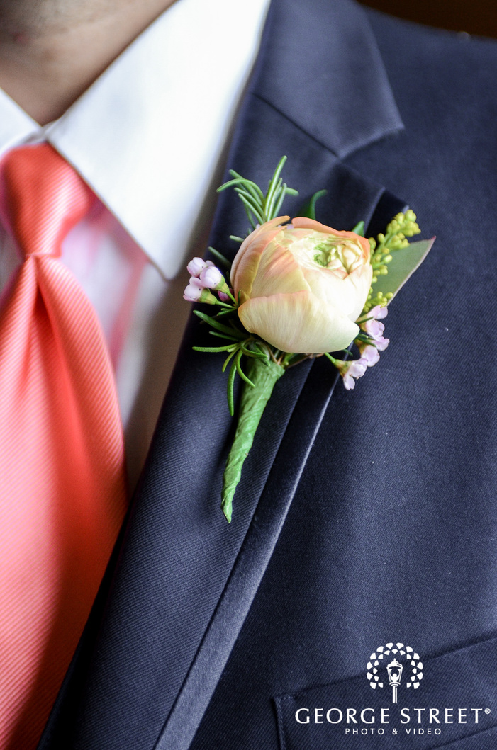 lovely boutonniere detail wedding photos