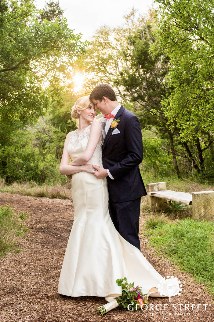 mesmerizing bride and groom in lawn