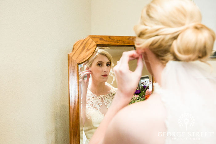 passionate bride getting ready wedding photo