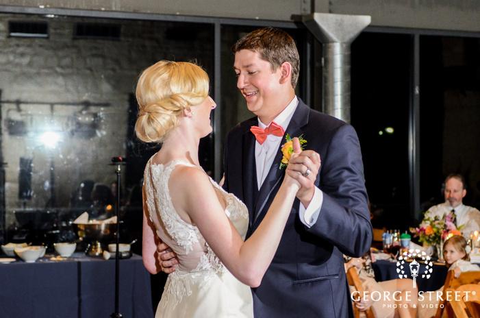 pretty bride and groom reception dance