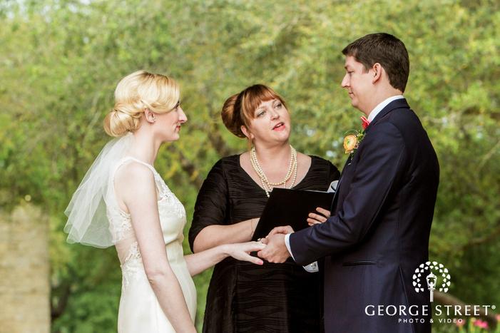 ravishing bride and groom at weddin ceremony