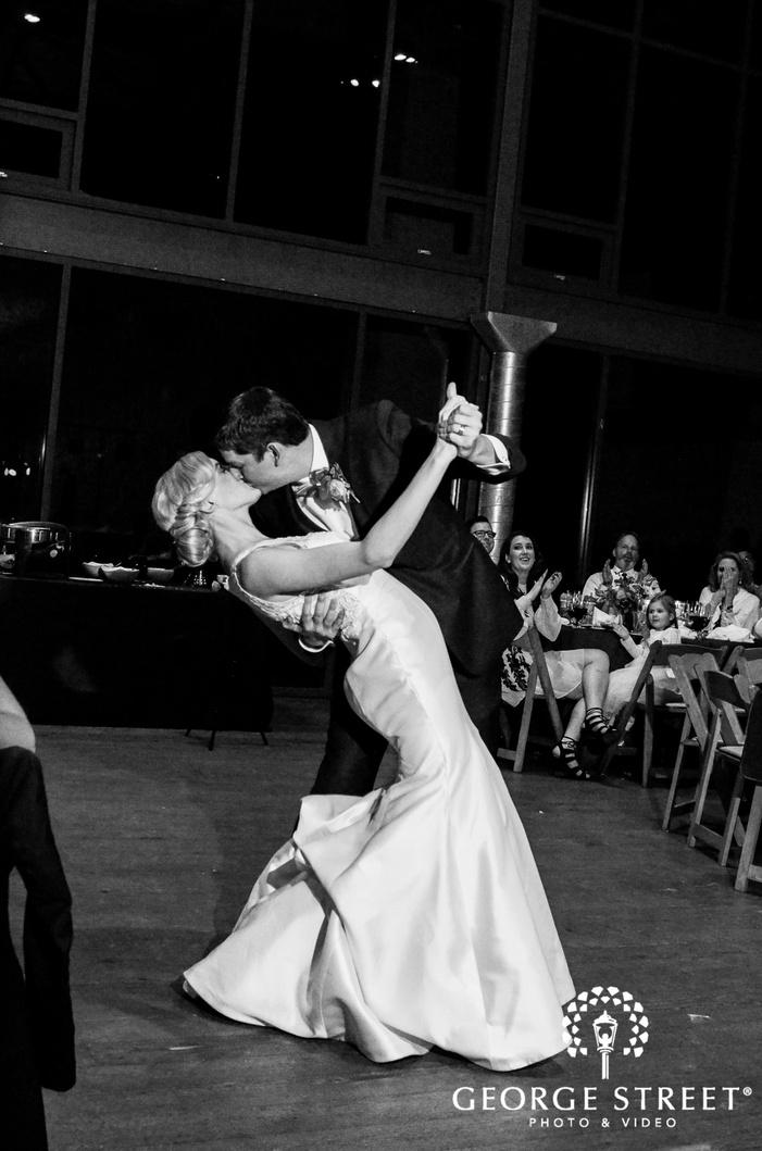 romantic bride and groom reception dance