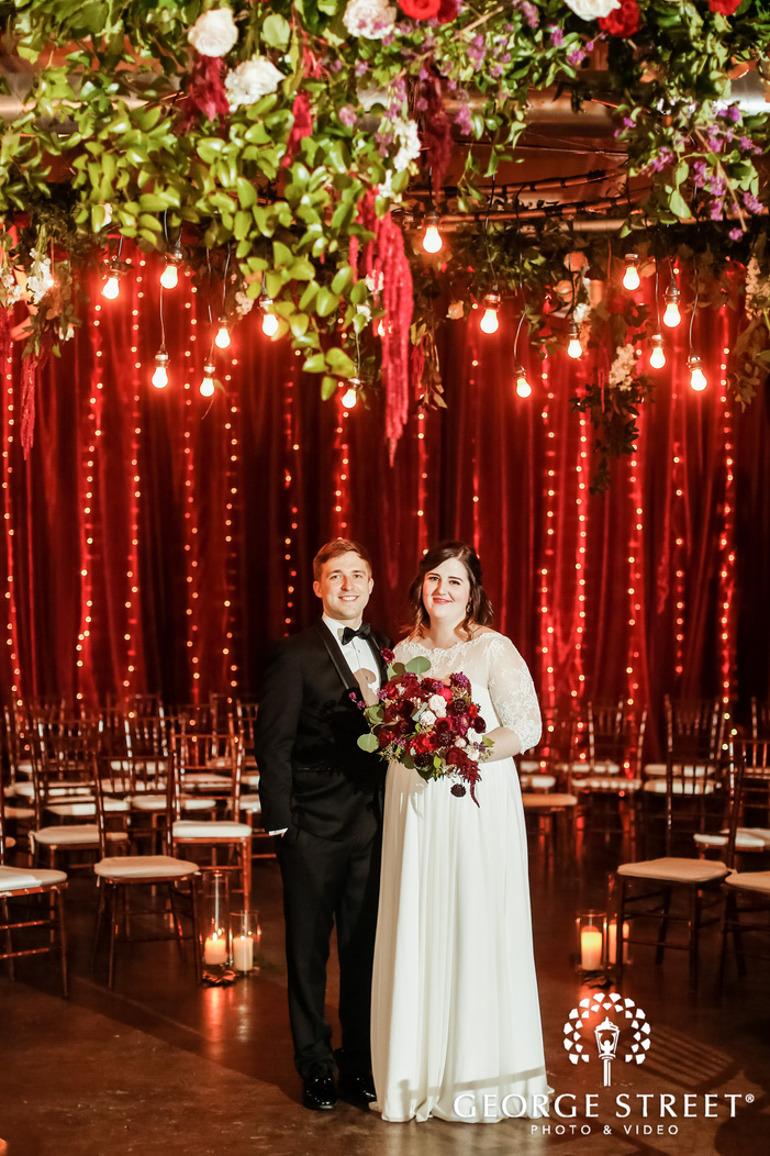 adorable couple in reception hall wedding photography