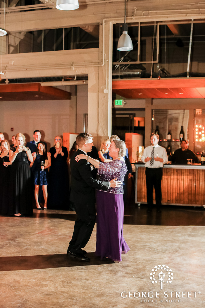 adorable groom and mother reception dance wedding photo