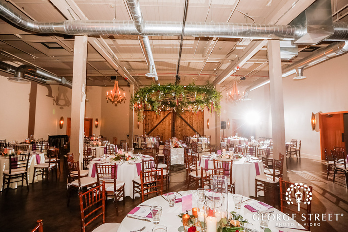lovely reception hall setting wedding photo