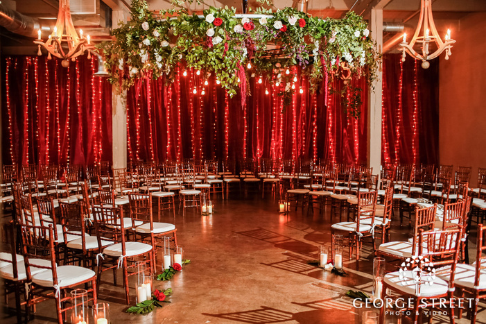 mesmerizing reception hall setting at the foundry in seattle