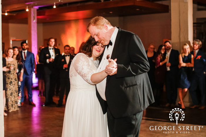 sweet bride and father reception dance wedding photo