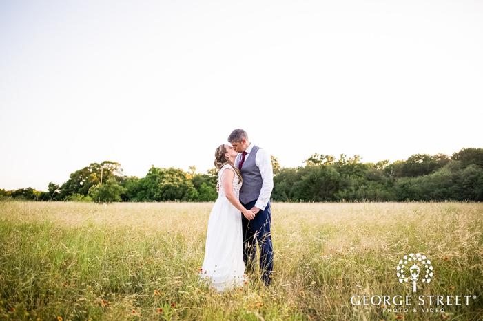 romantic bride and groom in austin