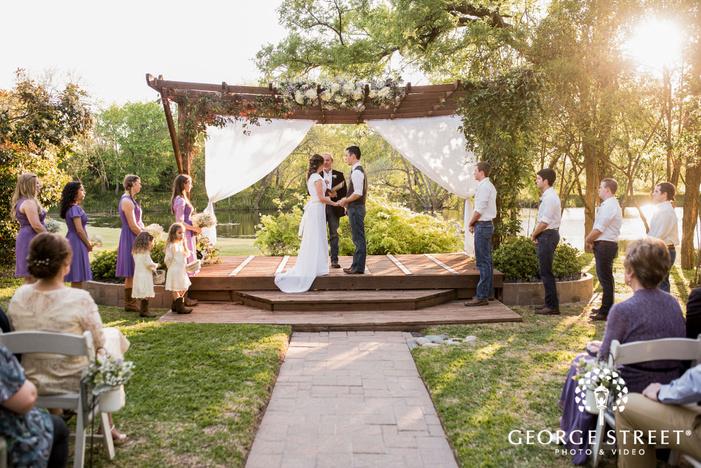 cross creek ranch beautiful wedding ceremony dallas fort worth wedding photos