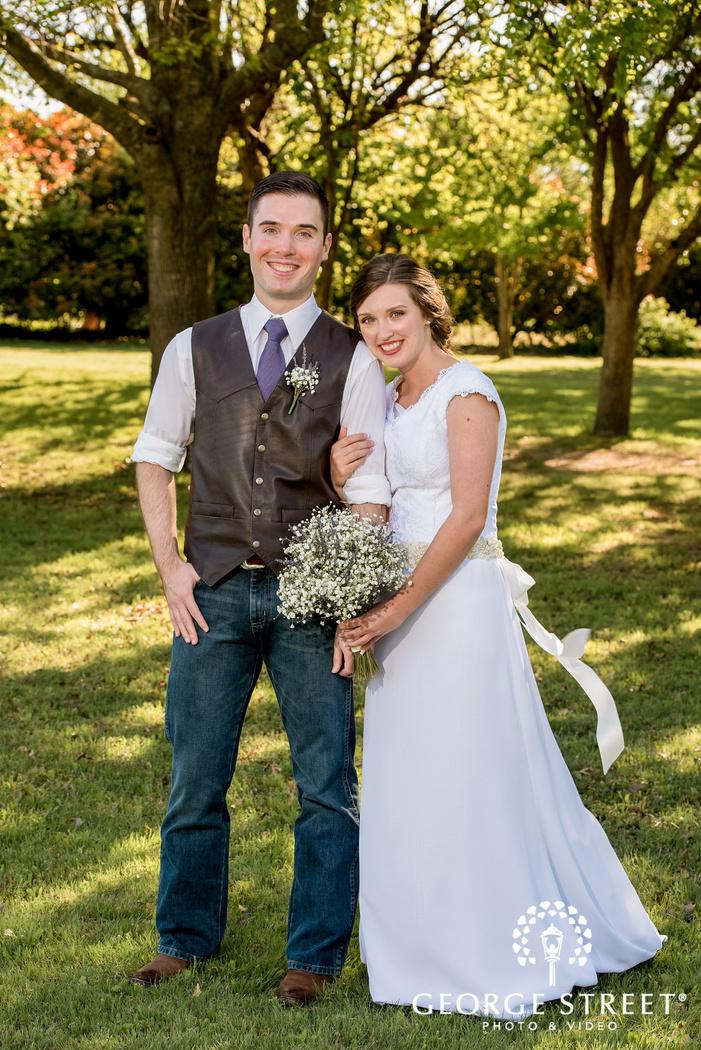 cross creek ranch enchanting couple in garden dallas fort worth wedding photos