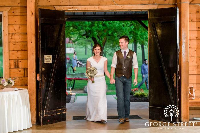 joyful couple reception entrance cross creek ranch dallas fort worth wedding photos