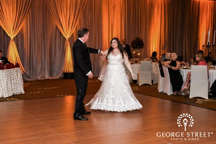 bride and father reception dance prestonwood country club dallas fort worth wedding photos