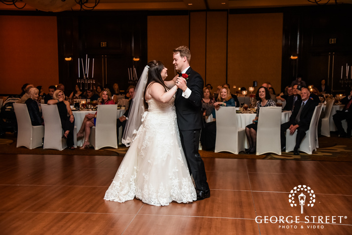 bride and groom first dance prestonwood country club dallas fort worth wedding photos